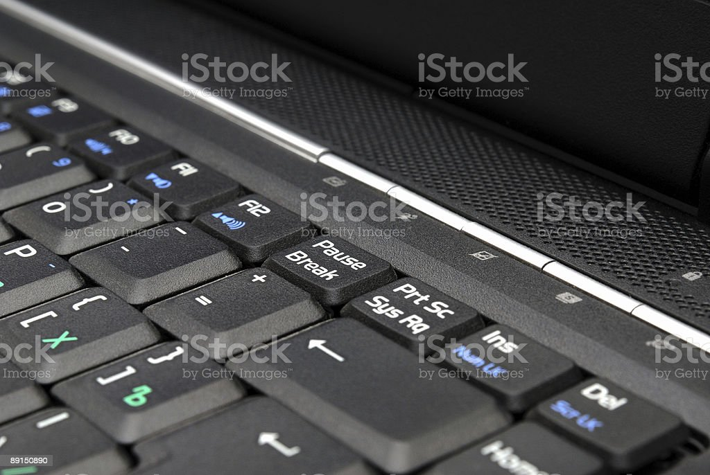 Fragment computer keyboards royalty-free stock photo