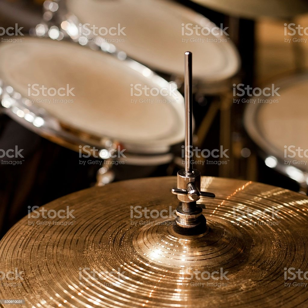 Fragment drumset closeup stock photo