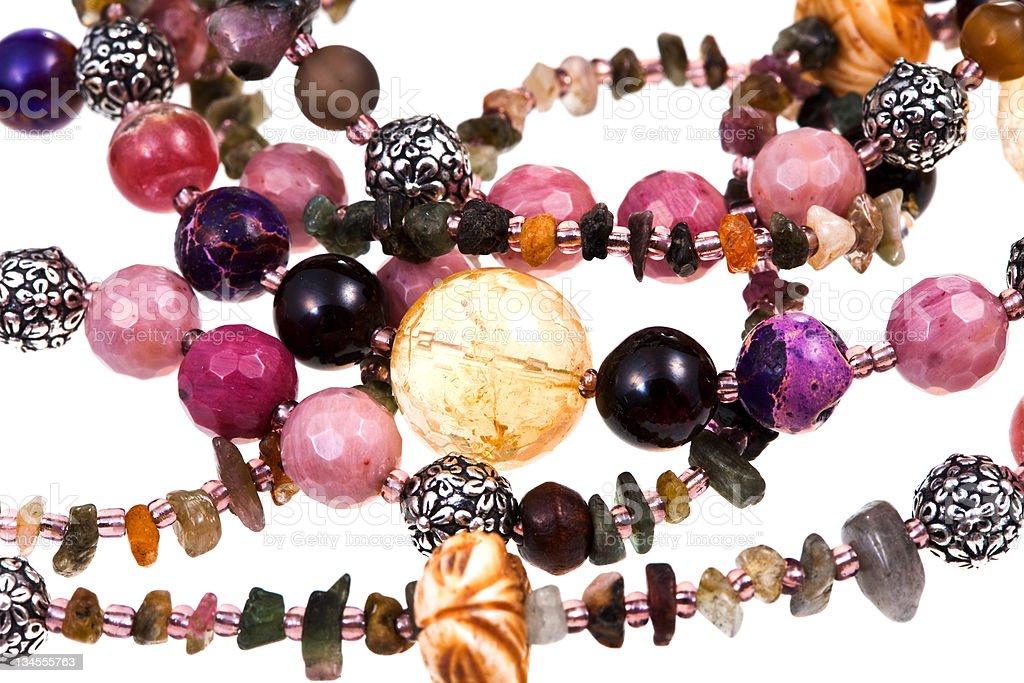 fragment gemstone lady's bead closeup stock photo