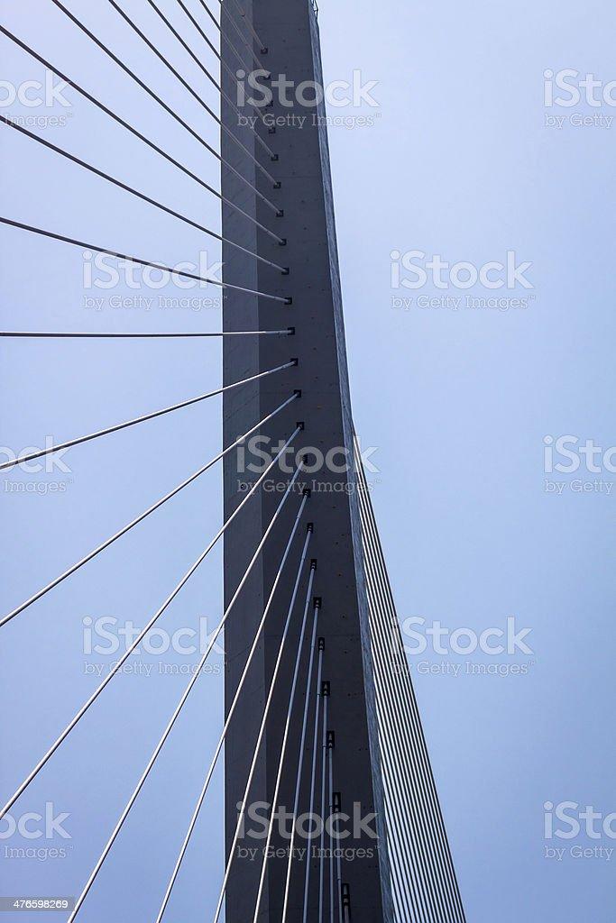 Fragment of a bridge. royalty-free stock photo