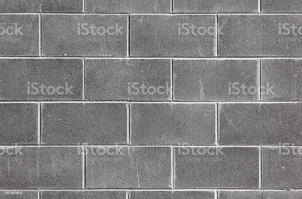 Fragment of a gray concrete wall stock photo