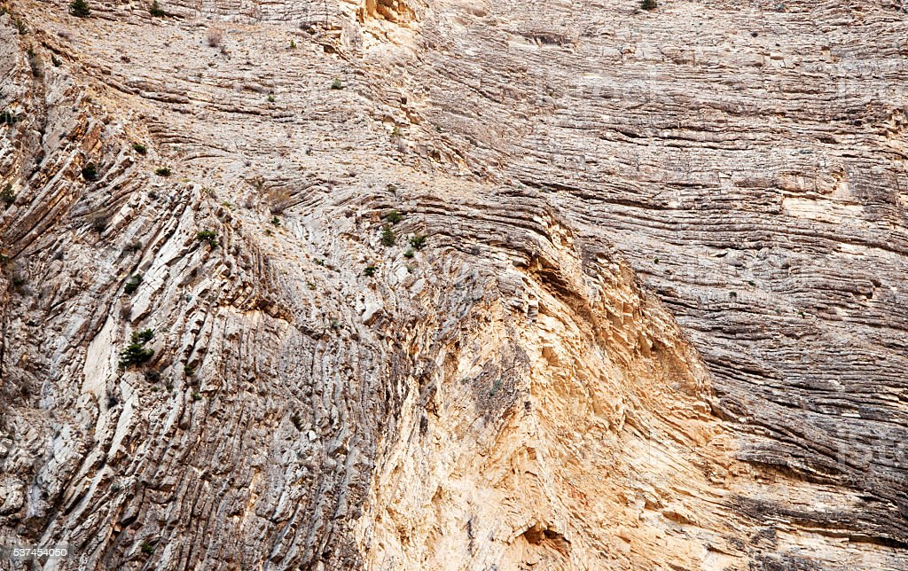Fragment of a rock surface stock photo