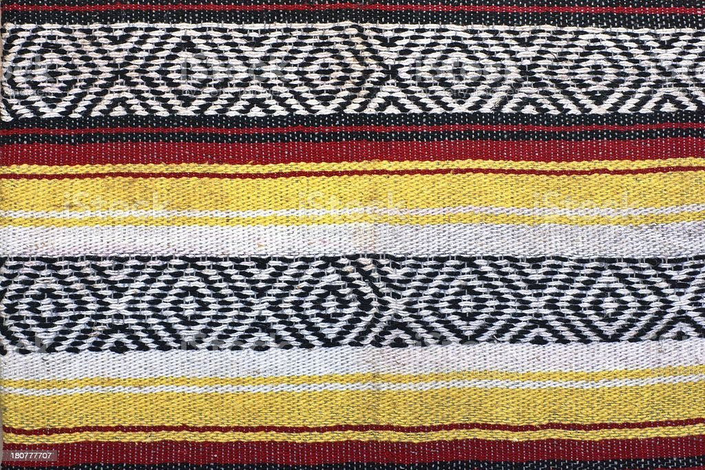 Fragment of a woven carpet royalty-free stock photo
