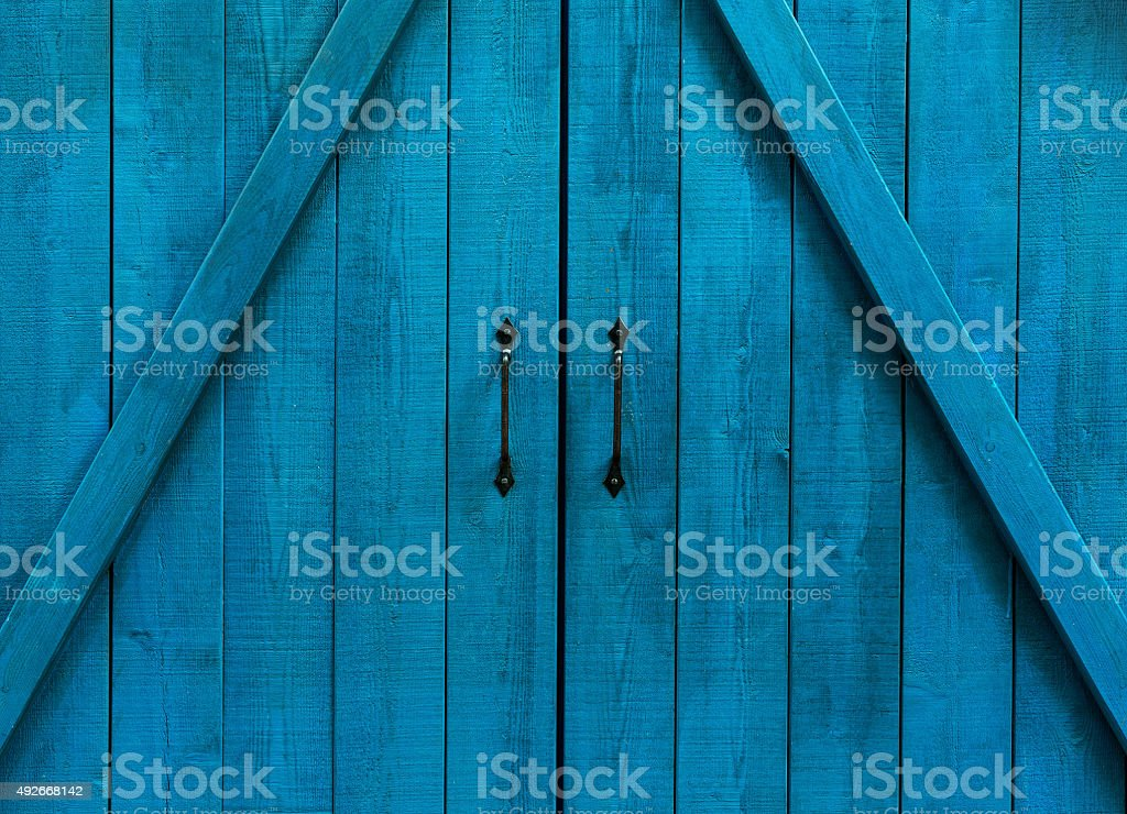 Fragment of an old and dilapidated doors stock photo