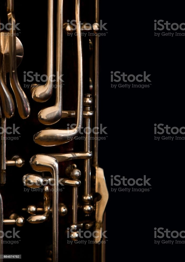 Fragment of bassoon stock photo