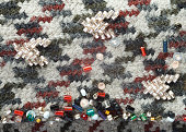 Fragment of bead embroidery