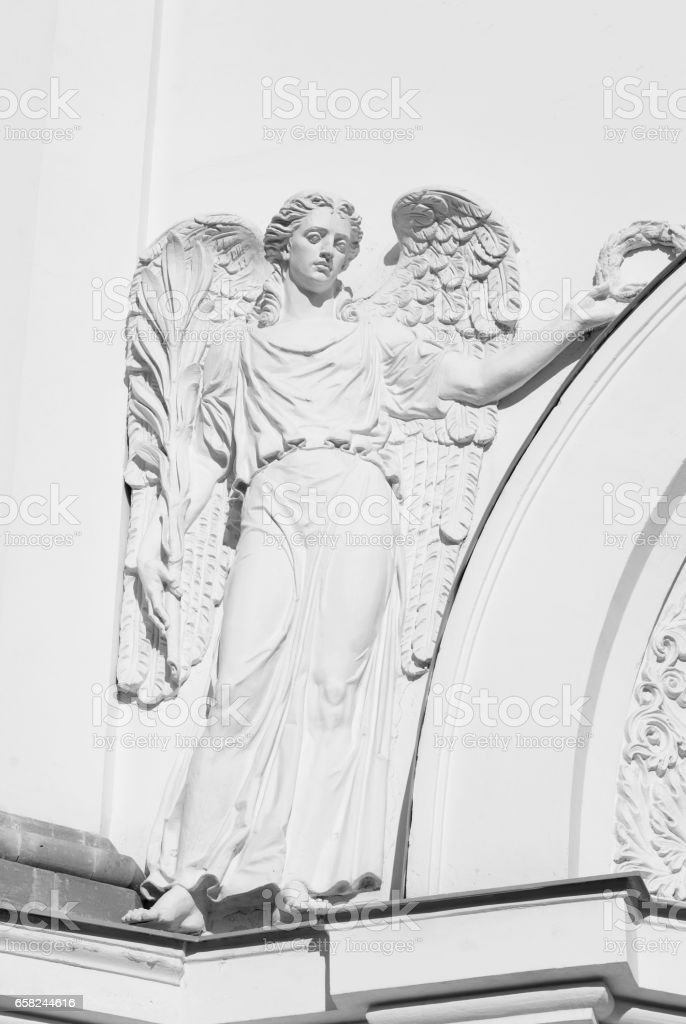 Fragment of Cathedral St. Catherine. stock photo