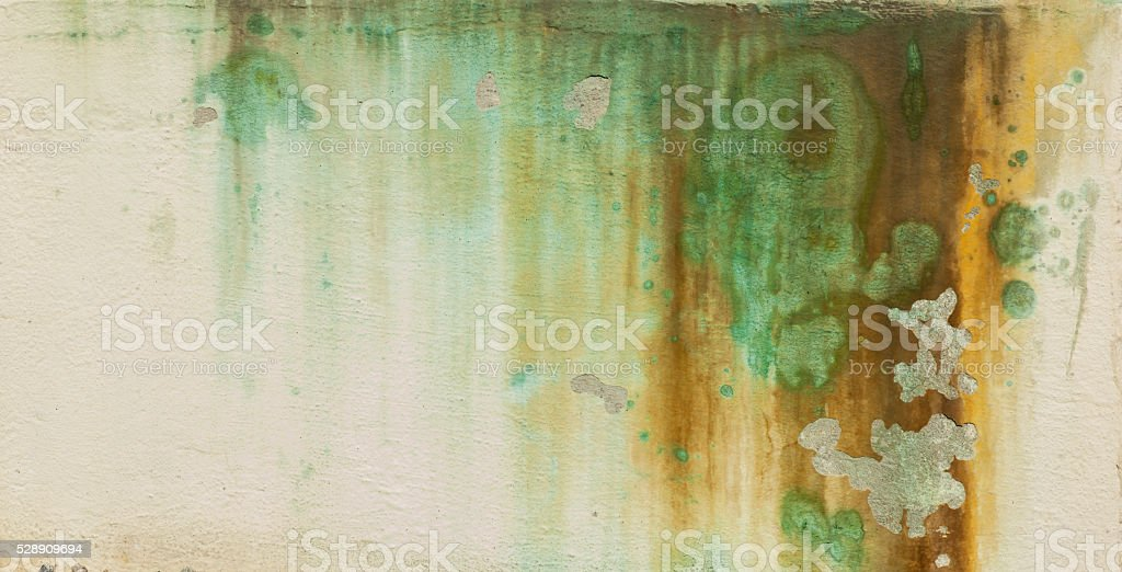 Fragment of colorful  discolored mural wall backgrounds. stock photo