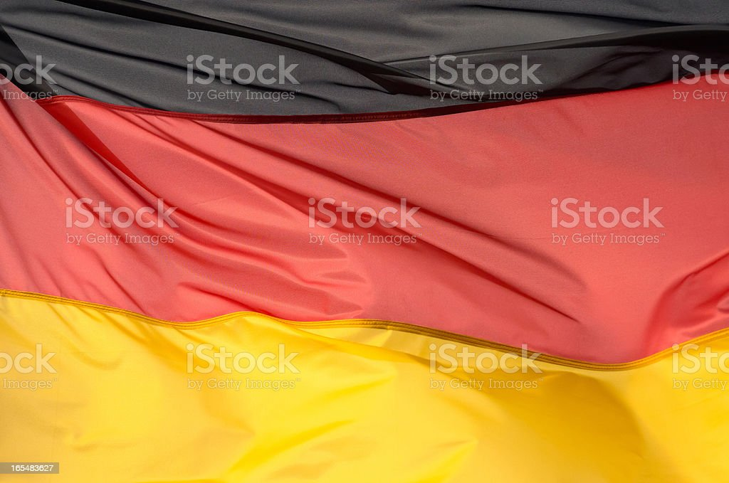 Fragment of flag  Germany in the sunlight royalty-free stock photo