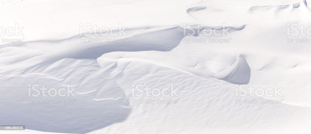 Fragment of fresh snow stock photo