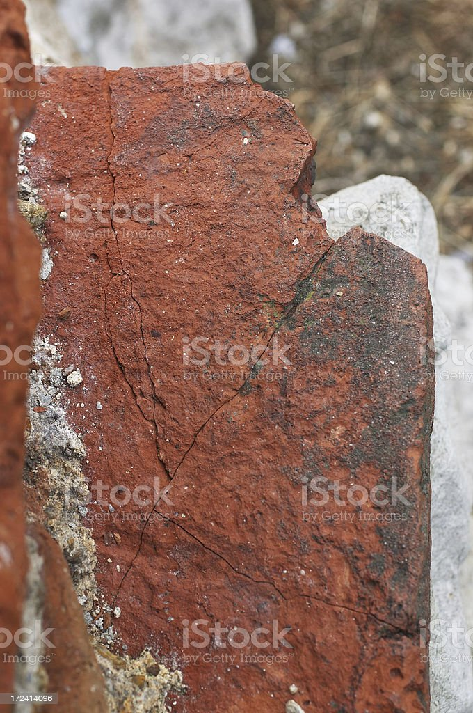 Roman tile from 200 AD stock photo
