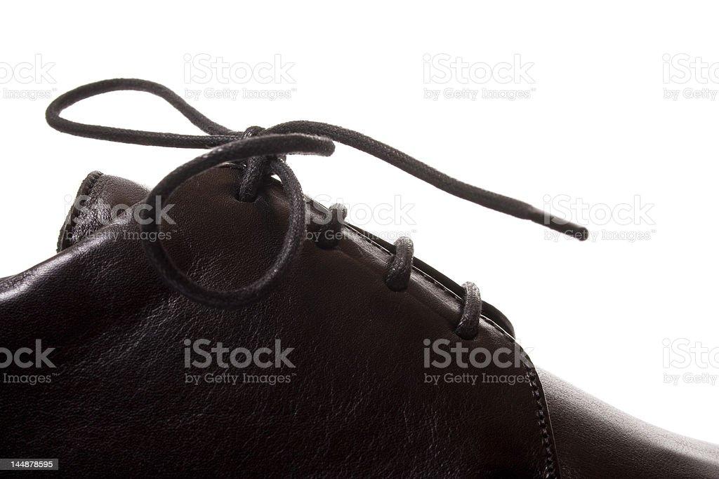 Fragment of men schoe stock photo