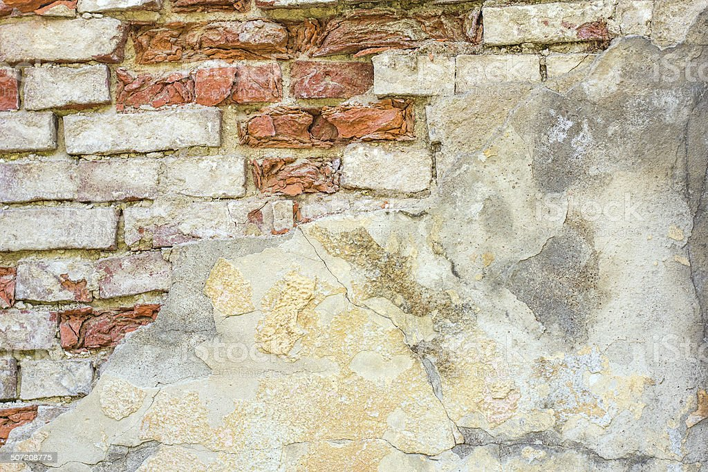 Fragment of old brick wall royalty-free stock photo
