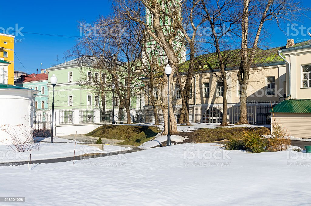 Fragment of old Moscow. stock photo