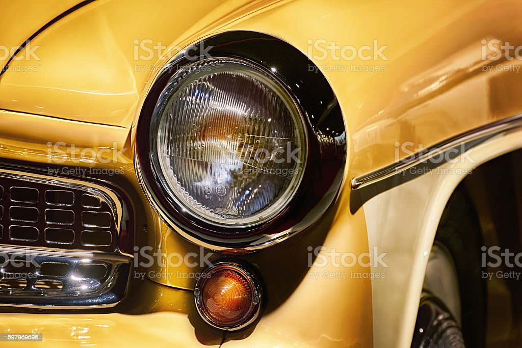 Fragment of Retro Car stock photo