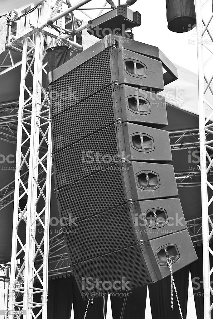 Fragment of sound equipment stock photo