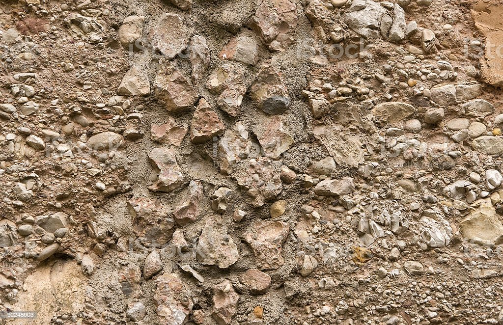 Fragment of stone wall royalty-free stock photo