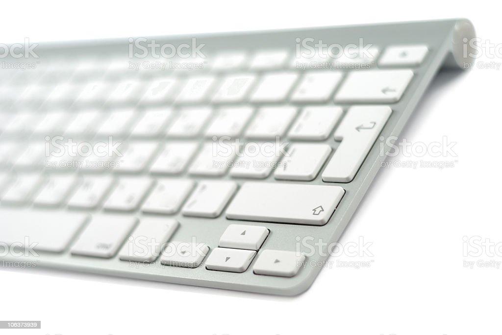 Fragment Of Style Metallic Keyboard royalty-free stock photo