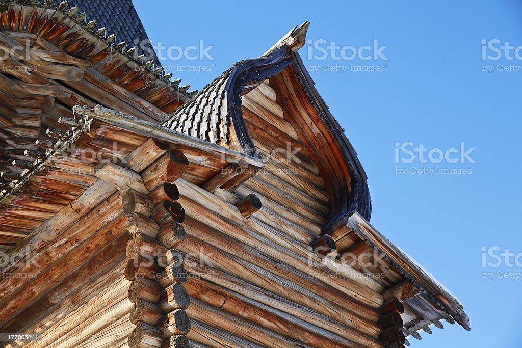 Fragment of the ancient russian church royalty-free stock photo