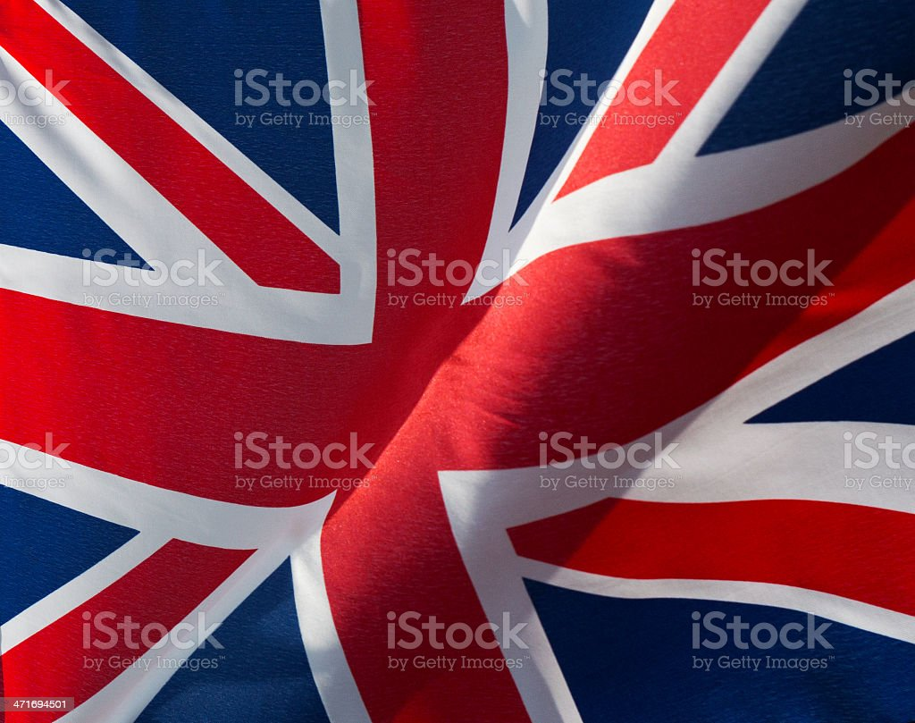 fragment of the British flag in wind royalty-free stock photo