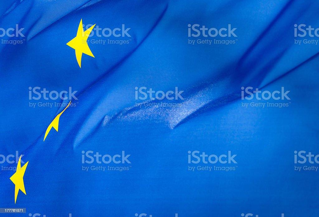 Fragment of the flag  European Union royalty-free stock photo