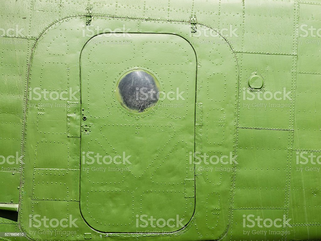 Fragment of the fuselage skin stock photo
