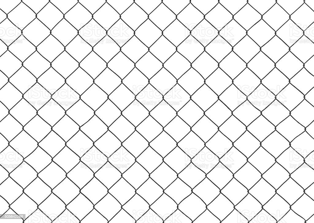 fragment of the mesh netting on the white background stock photo