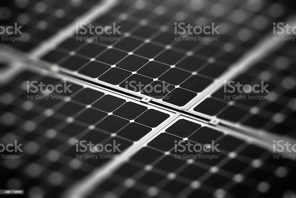 Fragment of the solar battery stock photo