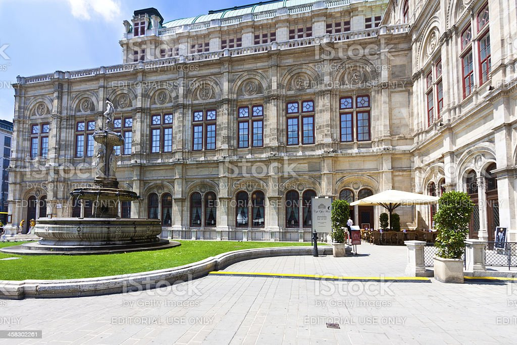 Fragment of the Vienna State Opera. royalty-free stock photo