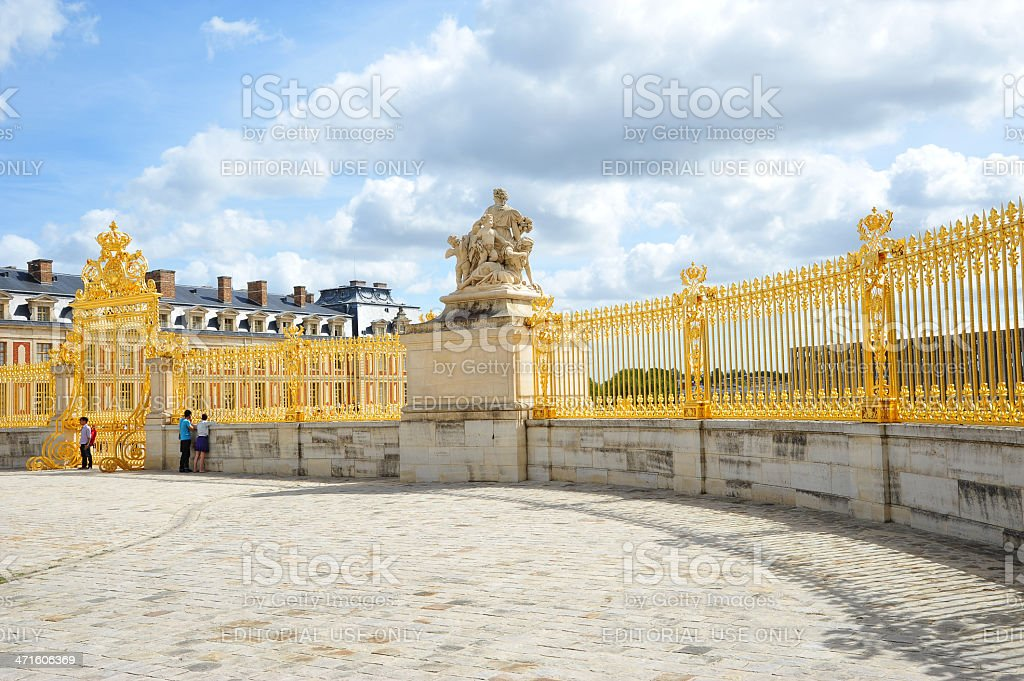 Fragment of Versailles Palace, France royalty-free stock photo