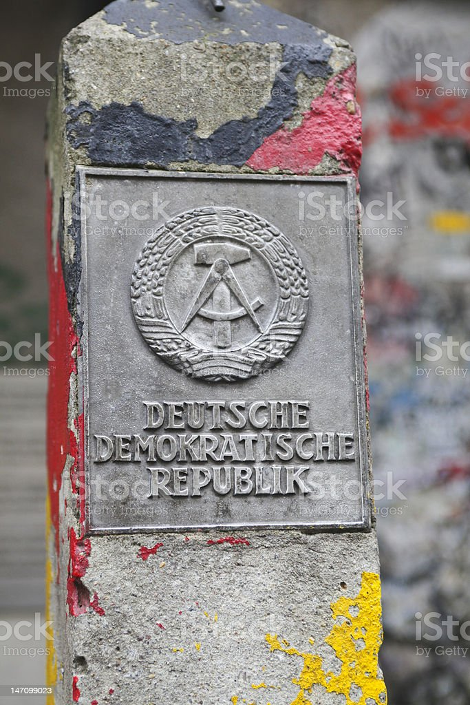 DDR fragment of wall stock photo