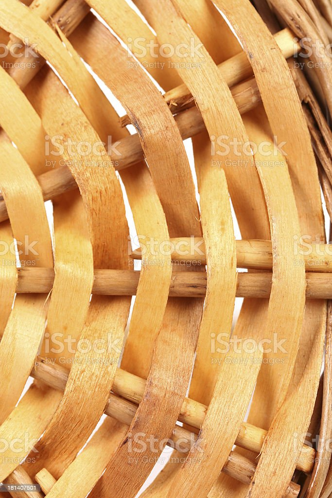 Fragment of willow wickerwork. Close up. royalty-free stock photo