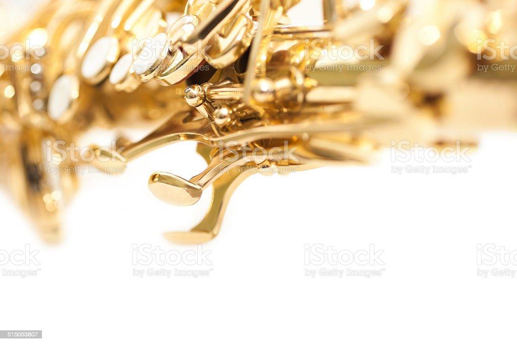 Fragment saxophone stock photo