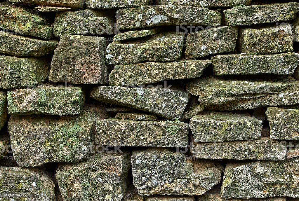 fragment stone wall royalty-free stock photo