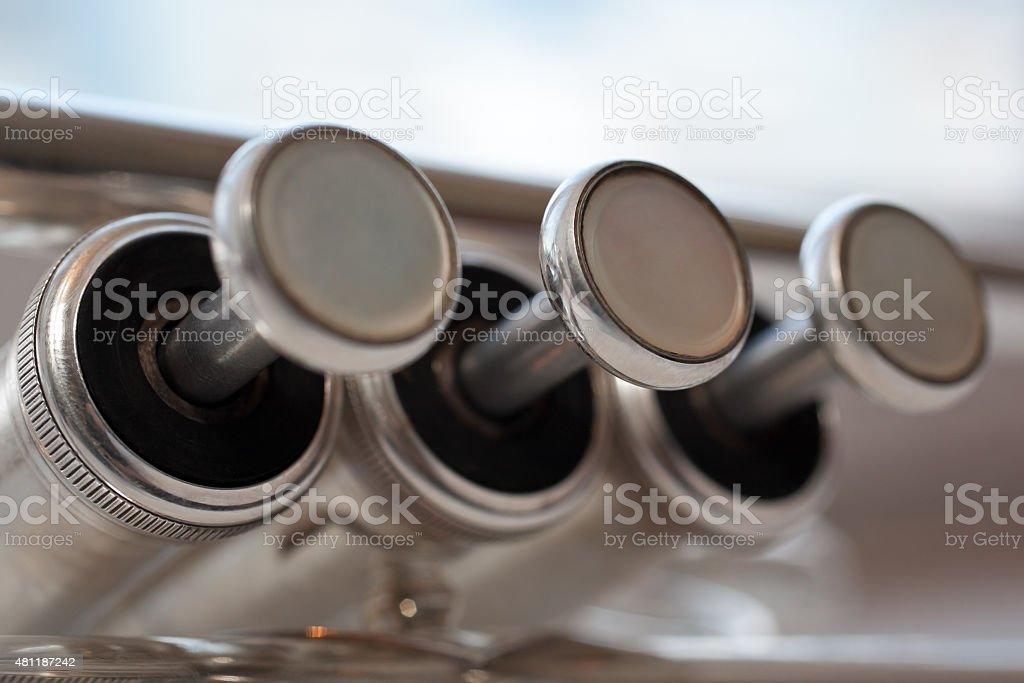 Fragment trumpet stock photo
