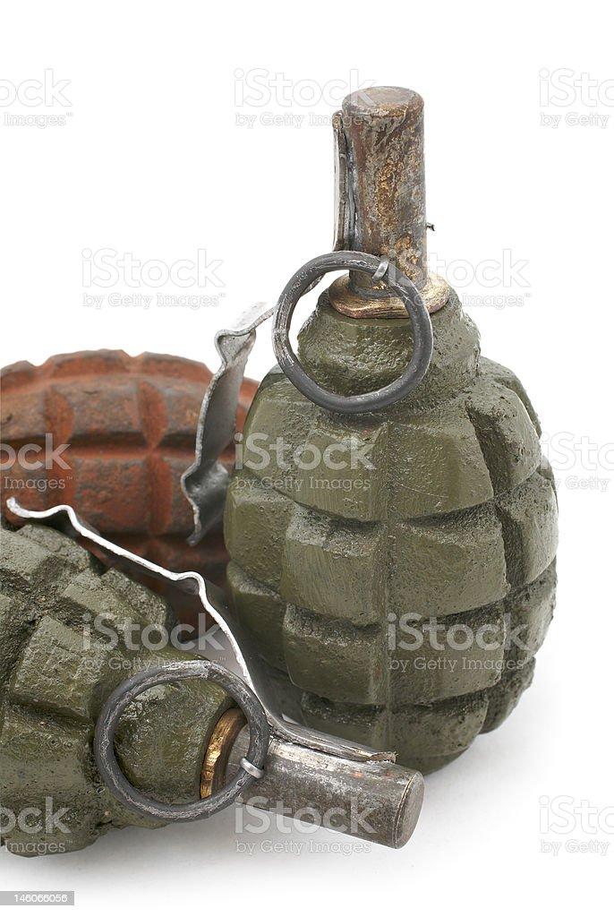 Fragmentation hand grenade stock photo