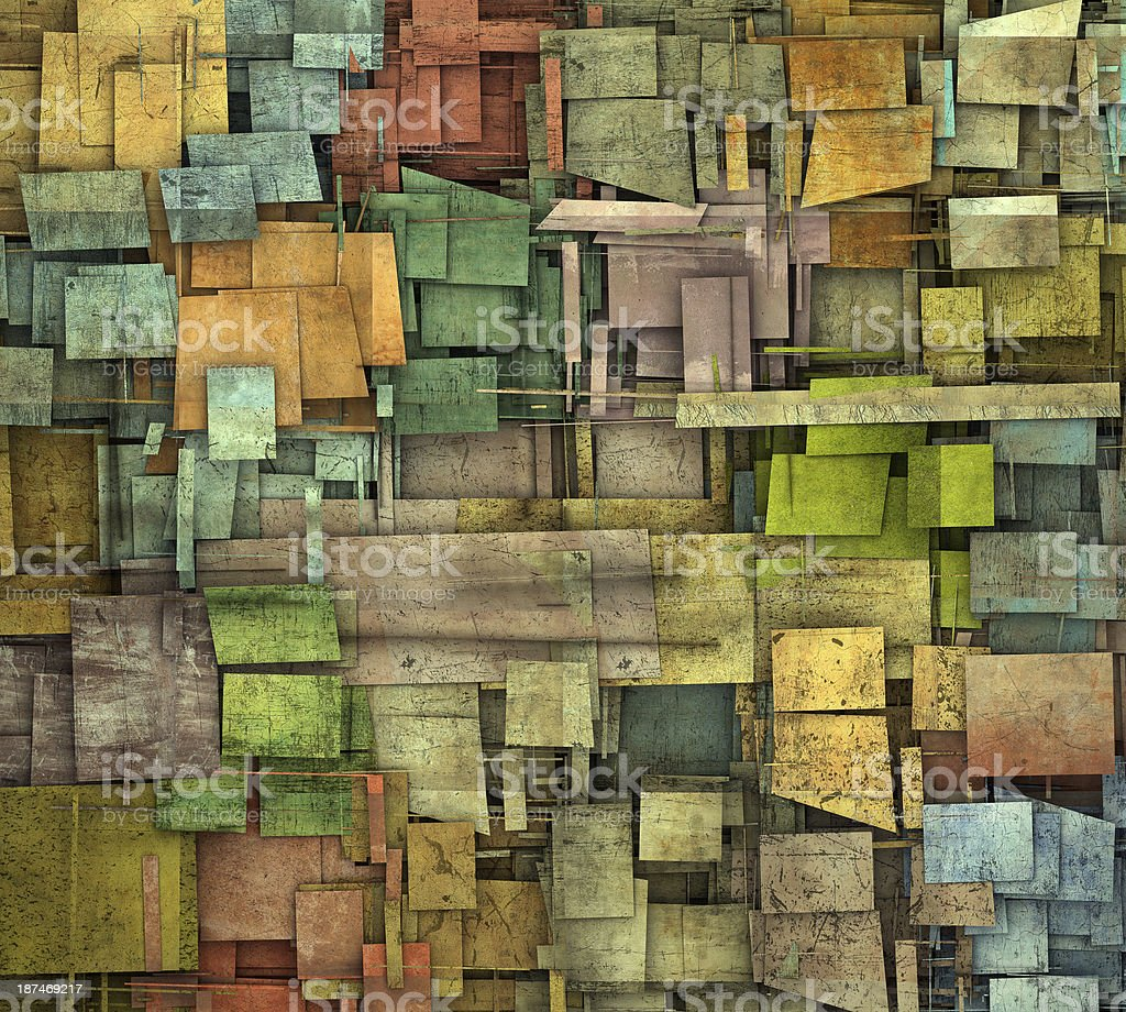 fragmented multiple color square tile grunge pattern backdrop royalty-free stock photo