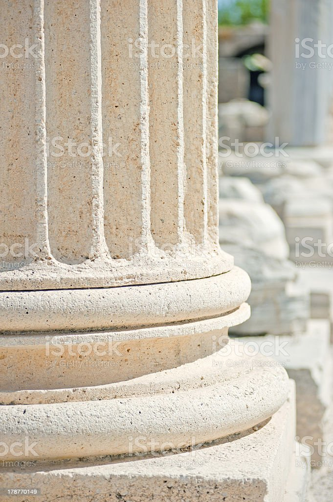 Fragments columns the temple of Apollo royalty-free stock photo
