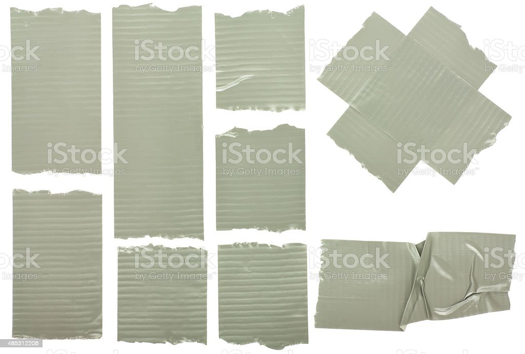 Fragments of the insulated tape stock photo