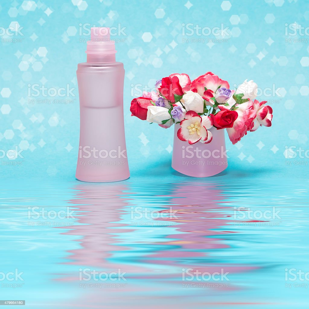 Fragrance of freshness and flowers stock photo
