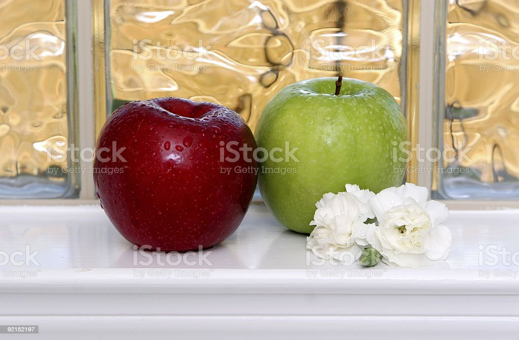 Fragrant apples. stock photo