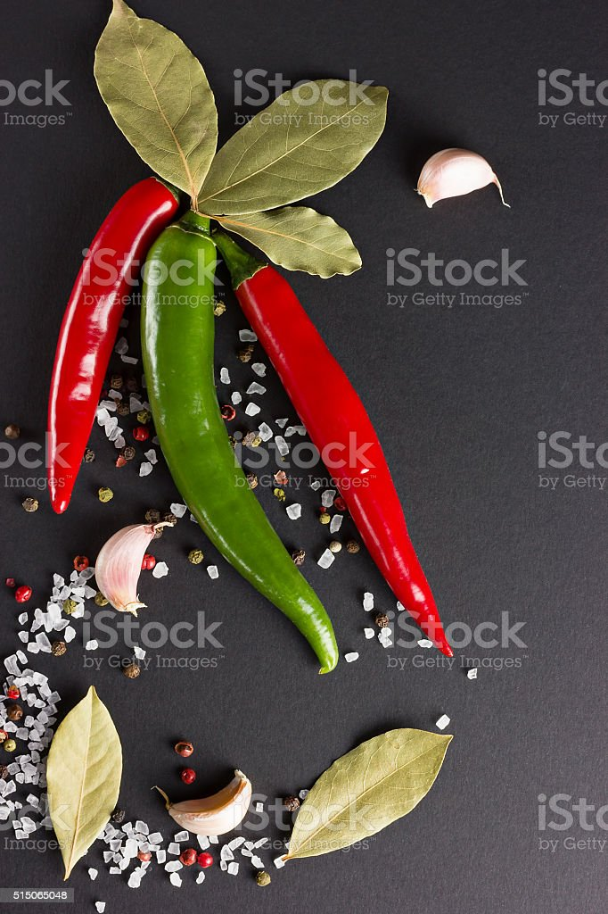 Fragrant spices stock photo