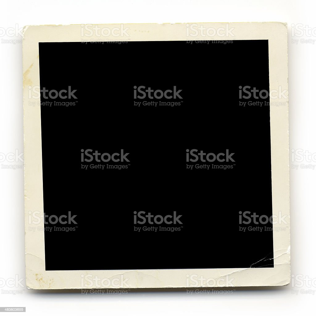 Frame - 1960s Straight Edge Yellowed Photo royalty-free stock photo