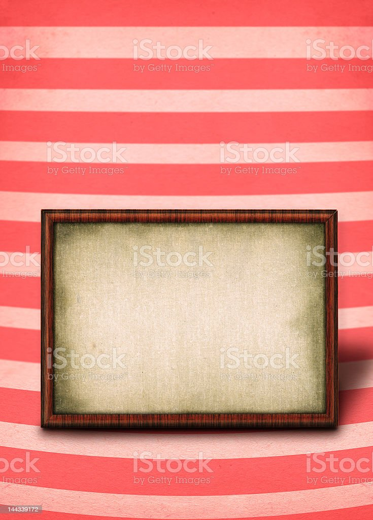 XXL frame against striped background royalty-free stock photo