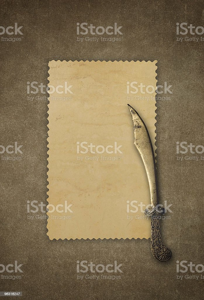 Frame and old knife (XXL) royalty-free stock photo