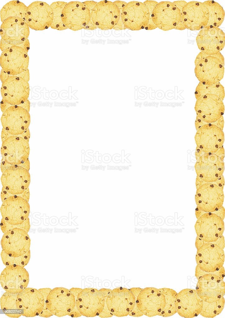 Frame Chocolate Chip Cookies Page Border stock photo 90822740 | iStock