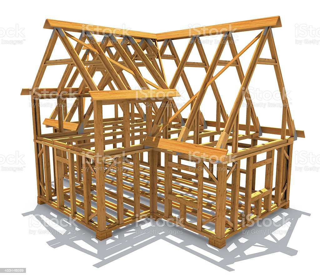 Frame construction royalty-free stock photo