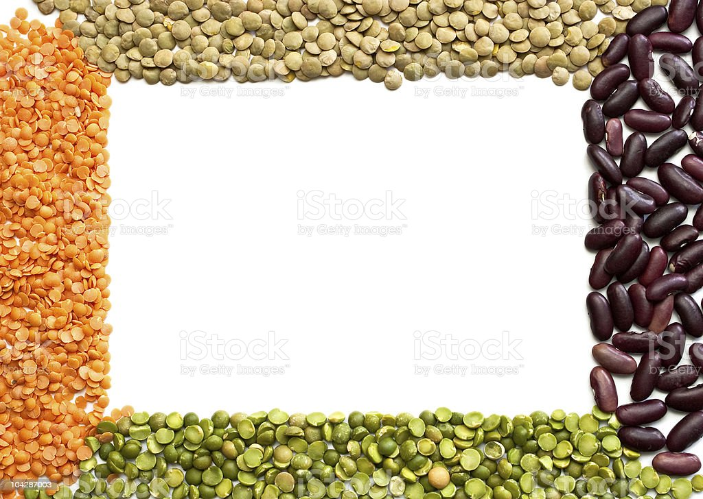 Frame dried beans royalty-free stock photo