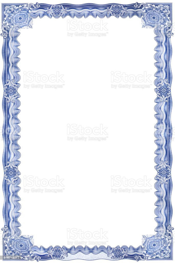 Frame for certificate1 stock photo