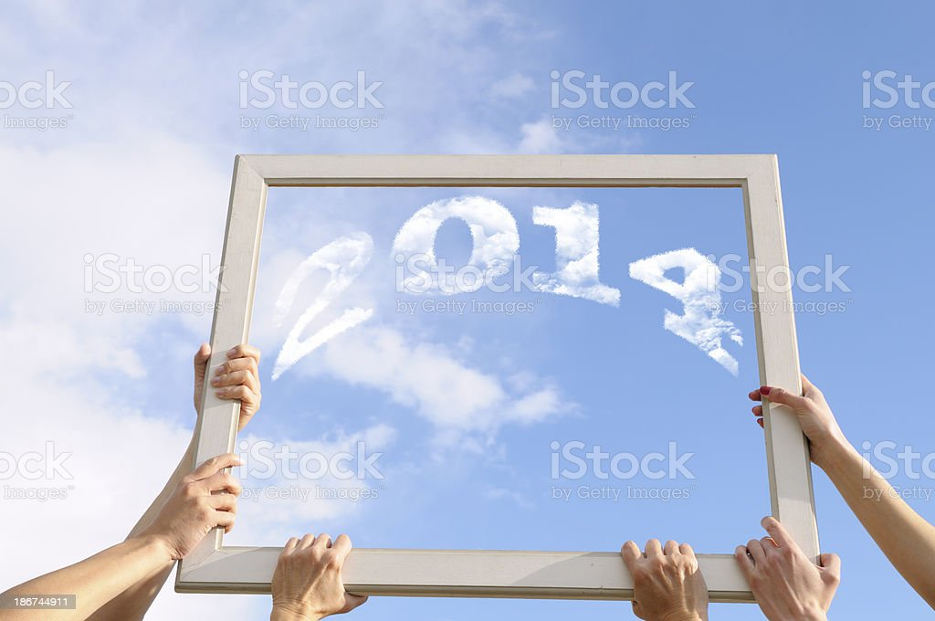Frame for New Year 2014 royalty-free stock photo
